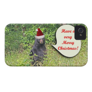 Santa Bear Wishing You a Merry Christmas Case-Mate iPhone 4 Case