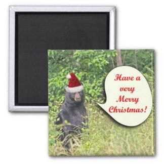 Santa Bear Wishing You a Merry Christmas Magnet