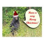 Santa Bear Wishing You a Merry Christmas Postcard