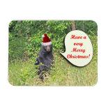 Santa Bear Wishing You a Merry Christmas Rectangle Magnet