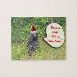 Santa Bear Wishing You a Merry Christmas Jigsaw Puzzles