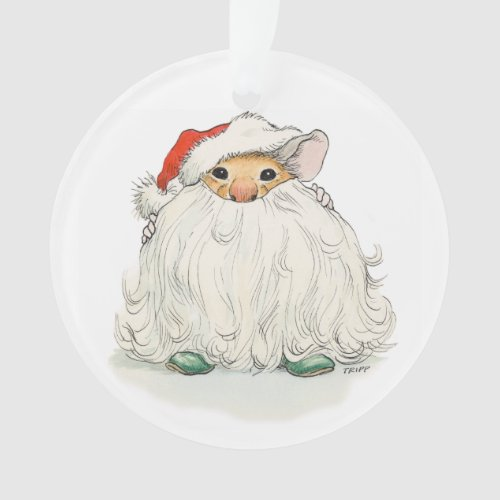 Santa Beard Mouse Ornament