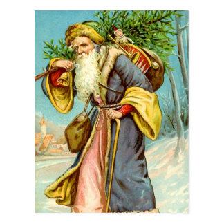 Santa Bearing Gifts Postcard