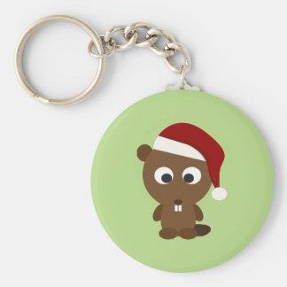 Santa Beaver Keychain