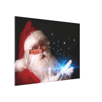Santa Believe #2 Christmas Art Canvas Print