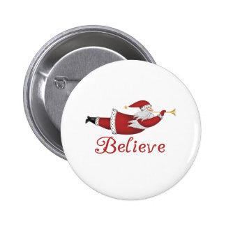 Santa Believe Pinback Buttons