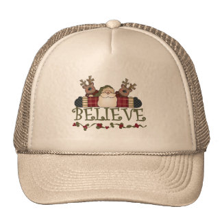 Santa Believe T-shirts and Gifts Trucker Hat