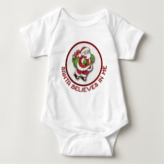 Santa Believes In Me Baby Clothes Baby Bodysuit