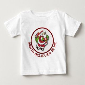 Santa Believes In Me Baby Clothes Baby T-Shirt