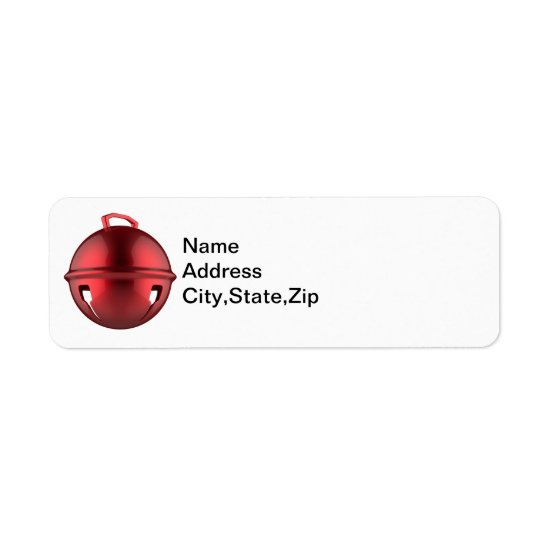 Santa Bell, Christmas Holiday Return Label