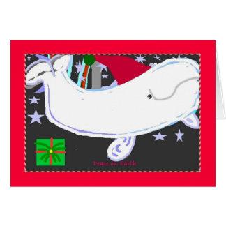 Santa Beluga Happy Holiday Card
