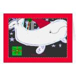 Santa Beluga Happy Holiday Greeting Card
