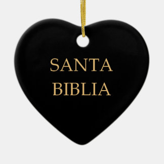 """Santa Biblia"" Ornament"