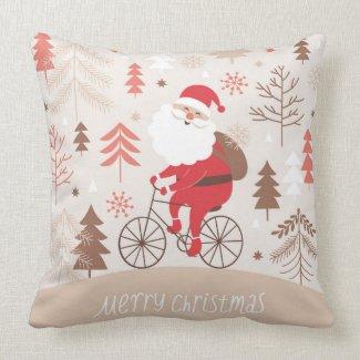 Santa Bicycling Pillows