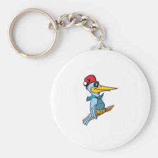 Santa Birdie Keychain