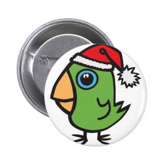 santa birdie pinback button