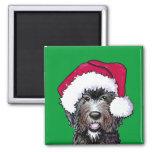 Santa Black Doodle Magnets