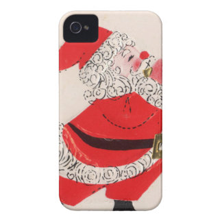 Santa Blowing Horn iPhone 4 Case-Mate Cases