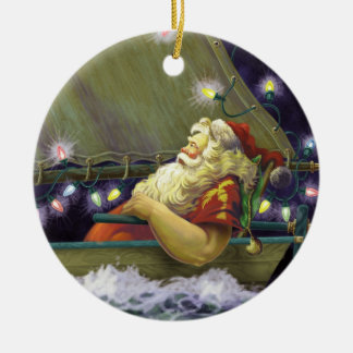 Santa Boat ornament