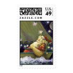 Santa Boat postage stamp