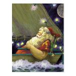 Santa Boat postcard