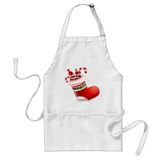 Santa Boot with Candy Adult Apron