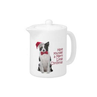 Santa Border Collie Teapot