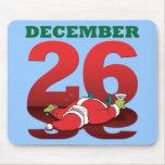 """Santa borracho el """"26 de diciembre"""" Mousepad Alfombrilla De Ratones"""