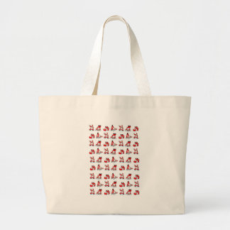 Santa Breakdance Wallpaper Tote Bag