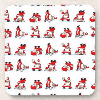 Santa Breakdance Wallpaper Beverage Coaster