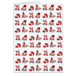 Santa Breakdance Wallpaper Card