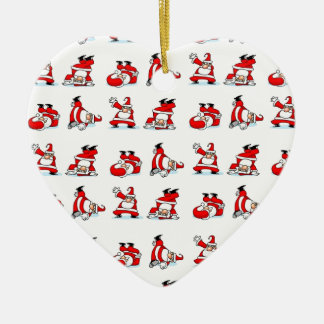 Santa Breakdance Wallpaper Ceramic Ornament