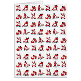 Santa Breakdance Wallpaper Greeting Card