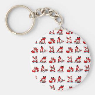 Santa Breakdance Wallpaper Keychain
