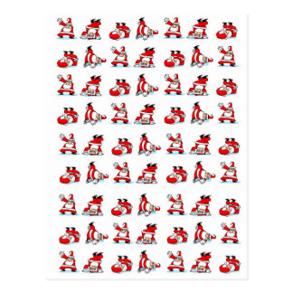 Santa Breakdance Wallpaper Postcard