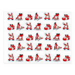 Santa Breakdance Wallpaper Postcards