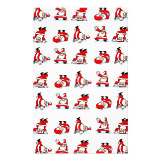 Santa Breakdance Wallpaper Stationery