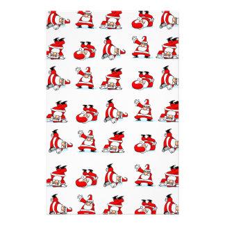Santa Breakdance Wallpaper Stationery