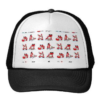 Santa Breakdance Wallpaper Trucker Hat