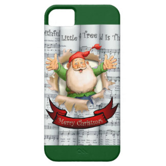 Santa Breakthrough ~ Rolled Christmas Sheet Music iPhone SE/5/5s Case