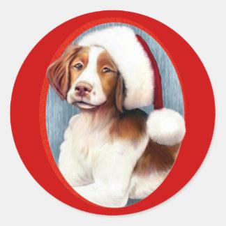 Santa Brittany Classic Round Sticker