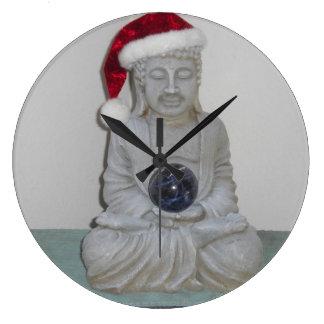 Santa Buddha Wall Clock