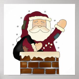 Santa buenas fiestas poster