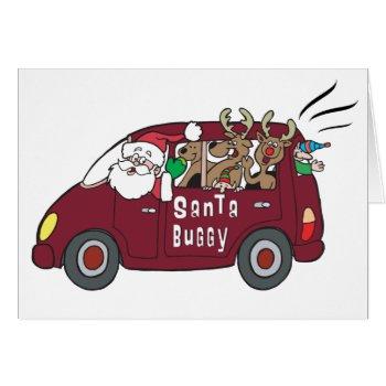 Santa Buggy Card