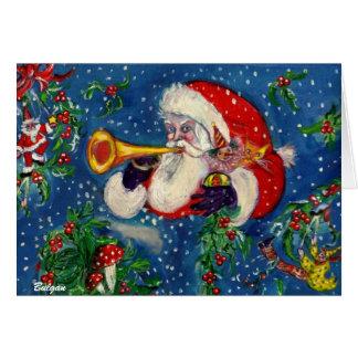 SANTA BUGLER /  CHRISTMAS NIGHT GREETING CARD