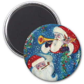 SANTA BUGLER Christmas Night Magnet
