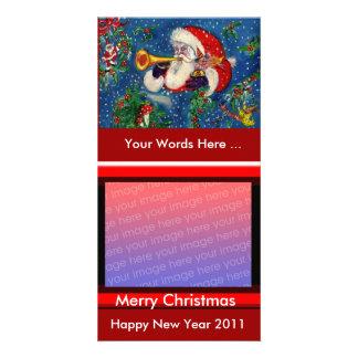 SANTA  BUGLER MUSICAL CHRISTMAS NIGHT CARD