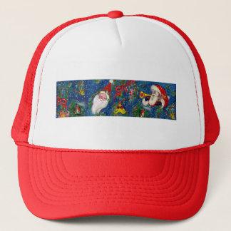 SANTA BUGLER Musical Christmas Night Trucker Hat