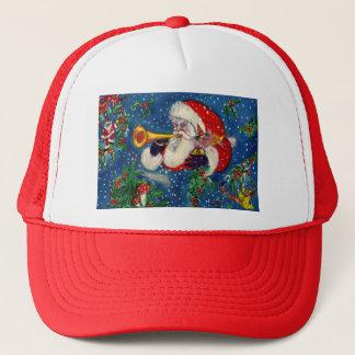 SANTA BUGLER Musical Christmas Trucker Hat