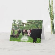 Santa Bull Christmas Card card